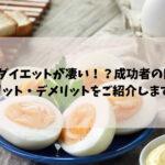ゆで卵ダイエット 口コミ