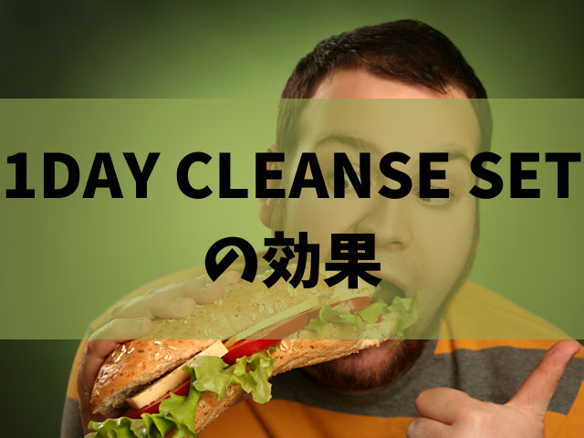 1DAY CLEANSE SET 効果